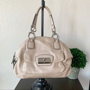Coach Small Hobo Bag Champagne Pink Leather